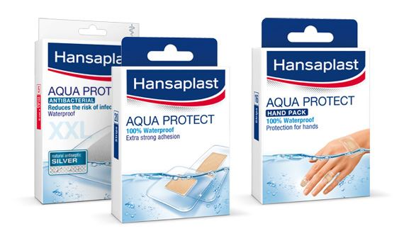 Range of waterproof Hansaplast plasters